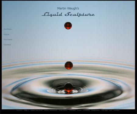 Liquid Sculpture by Martin Waugh