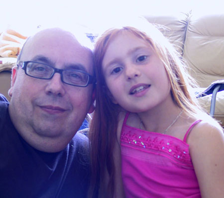 The author and his daughter