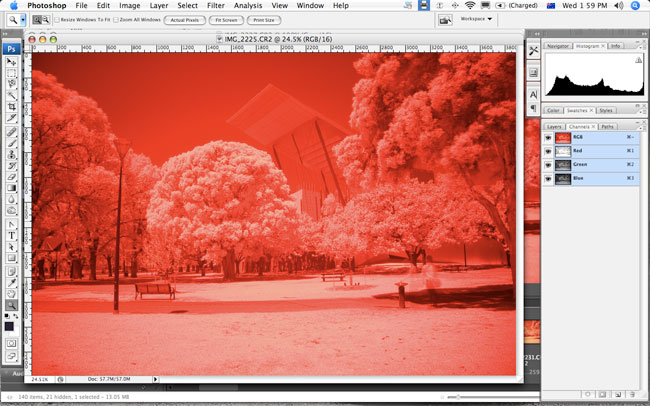 Infrared photography with the Canon 40D
