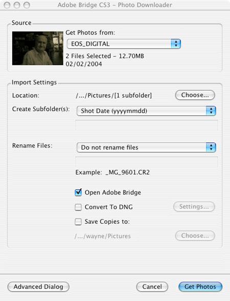 Adobe Photoshop CS3 Beta Bridge