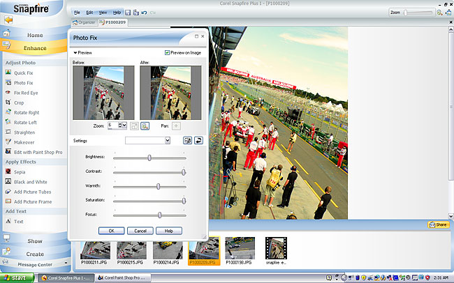 Corel Snapfire photography software