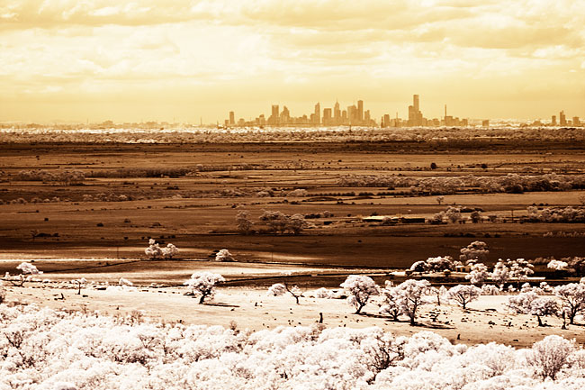 Melbourne in Infrared from the You Yangs