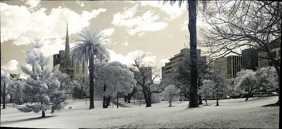 Fitzroy Gardens in Infrared