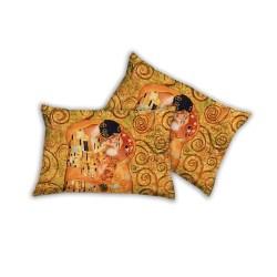 Federa I love sleeping con stampa digitale art Bacio di Klimt