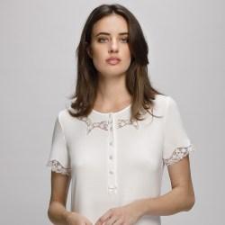 Camicia da notte Liu Jo Notte art Bordure donna cotone manica corta clinica premaman