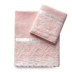 Set spugna 1+1 Ginestra di Liu Jo avorio rosa grigio bianco