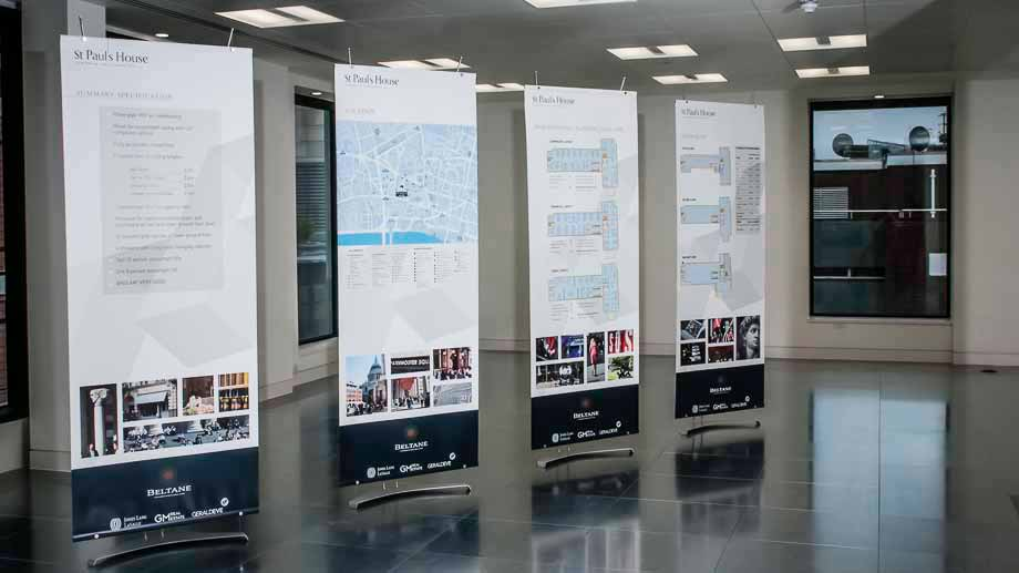 80cm banner stands marketing london office space