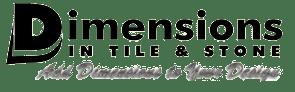 dimensions in tile stone