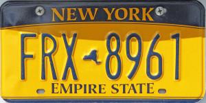 NY License Plate