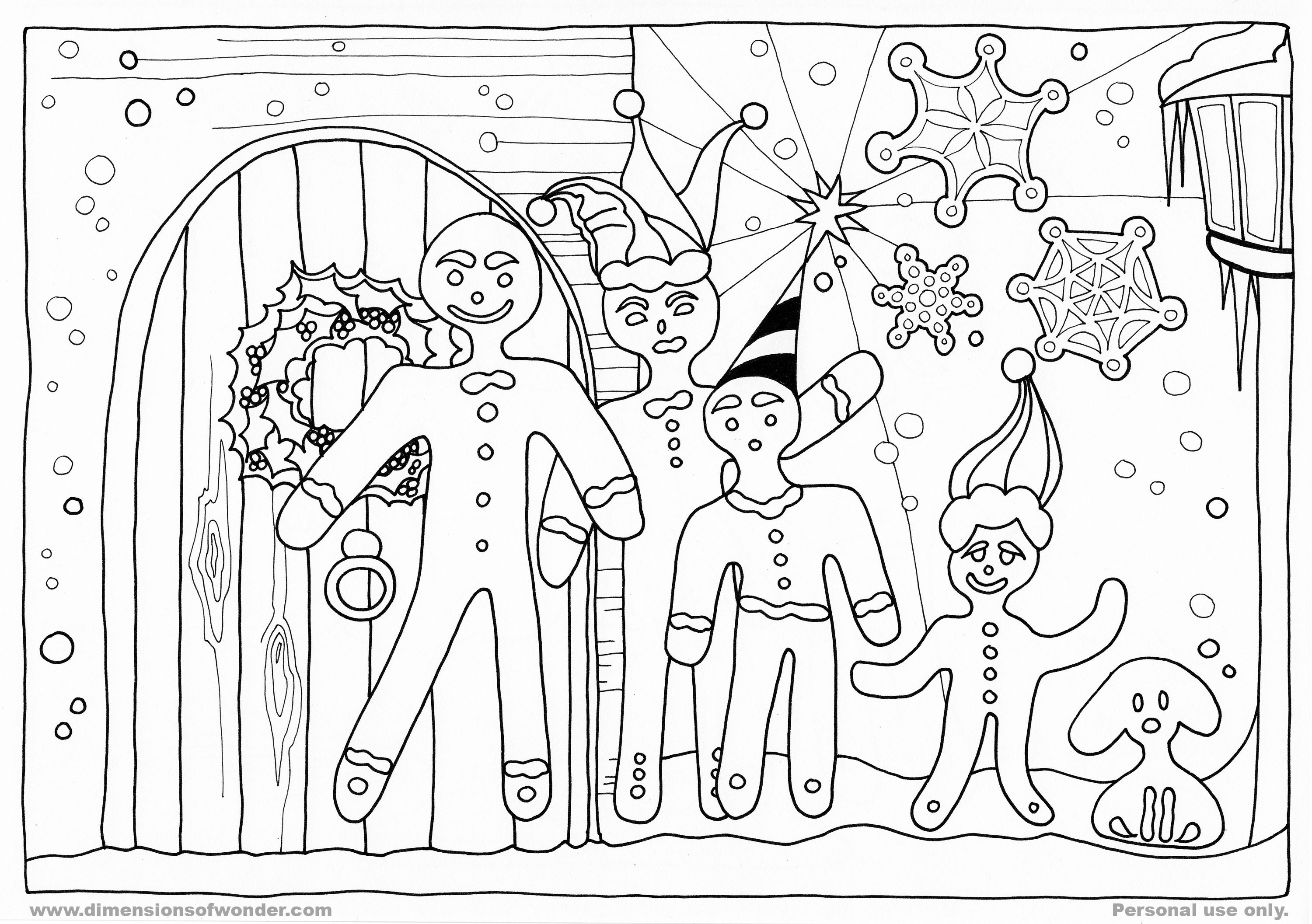 15 Gingerbread Man Templates Amp Colouring Pages
