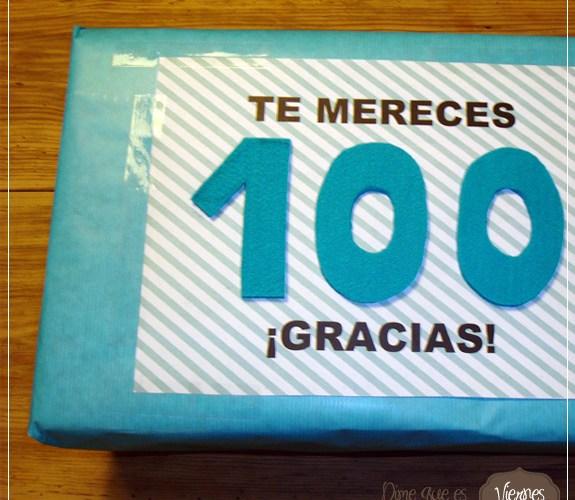 Nuestro regalo al Seguidor nº 100 y 100 gracias a todos.