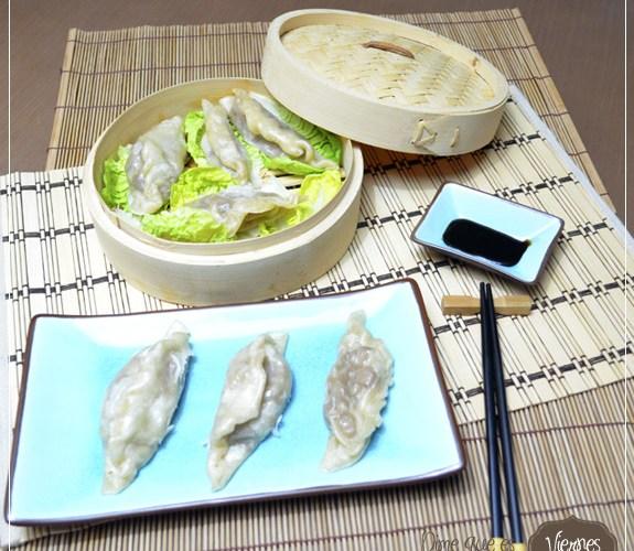 Empanadillas de atun al vapor, estilo oriental