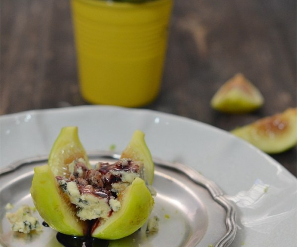 Higos caramelizados con oporto y queso azul Blue Stilton