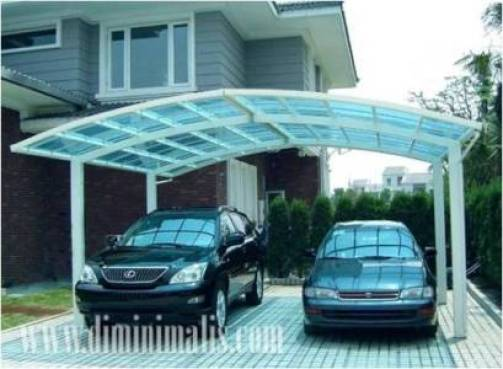 Membuat Carport Yang Ideal, carport minimalis modern