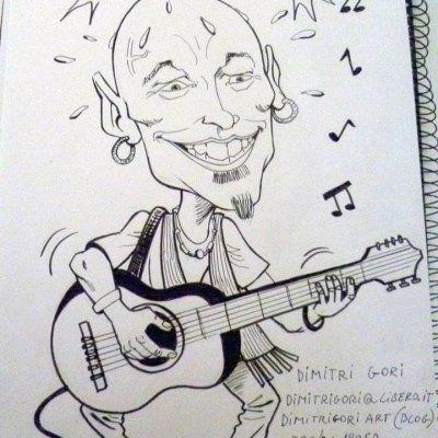 Caricatura di Finaz a matita - Dimitri Gori