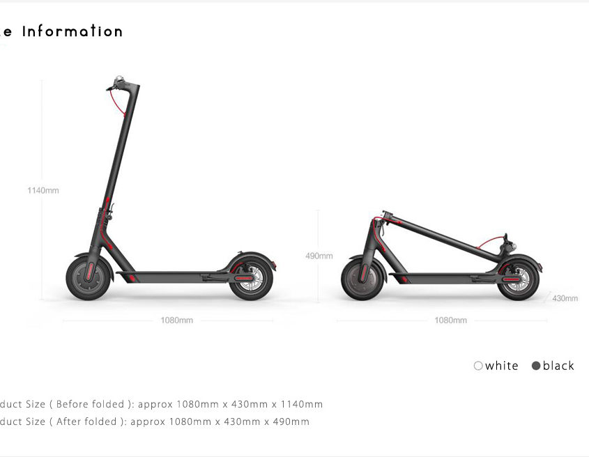 XIAOMI SCOOTER M365 FOLDABLE ELECTRIC SCOOTER