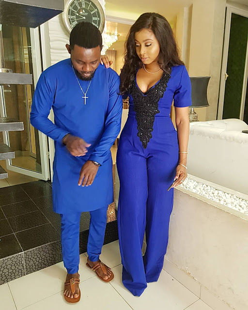AY And Wife Step Out In Cute Stylish Blue Outfits