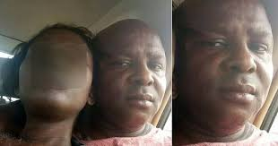 Horrible! Nigerian Man Takes Picture With His Wife's Corpse, Caressing it.