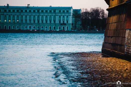 Высокая вода. Петропавловка. Санкт-Петербурга