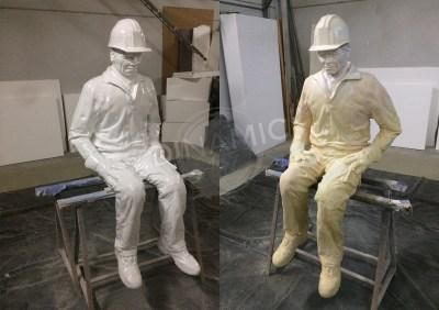 Escultura poliestireno expandido hiperrealista
