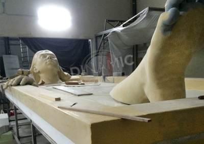 Escultura Porexpan Roca Fabricación 1