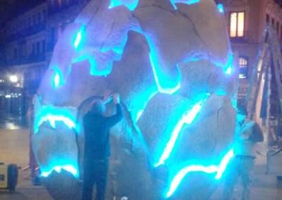 OVO. Escultura Artística para performance Mediaset
