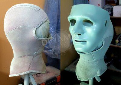 máscara plástico termomoldeado montaje