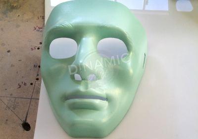 máscara plástico termomoldeado