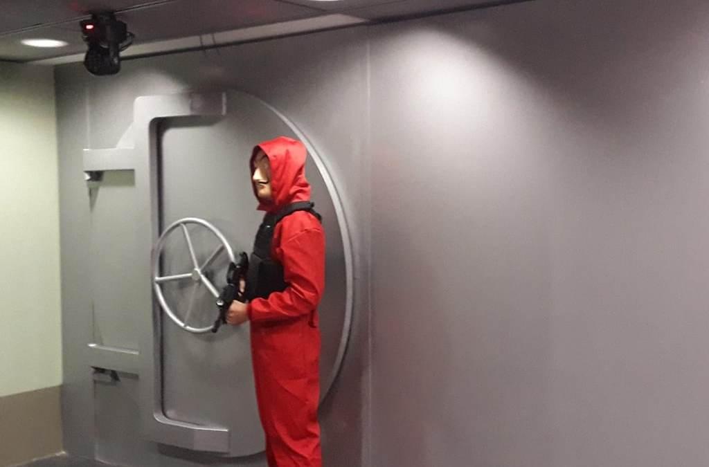 Escape Room La Casa de Papel. Elementos escénicos