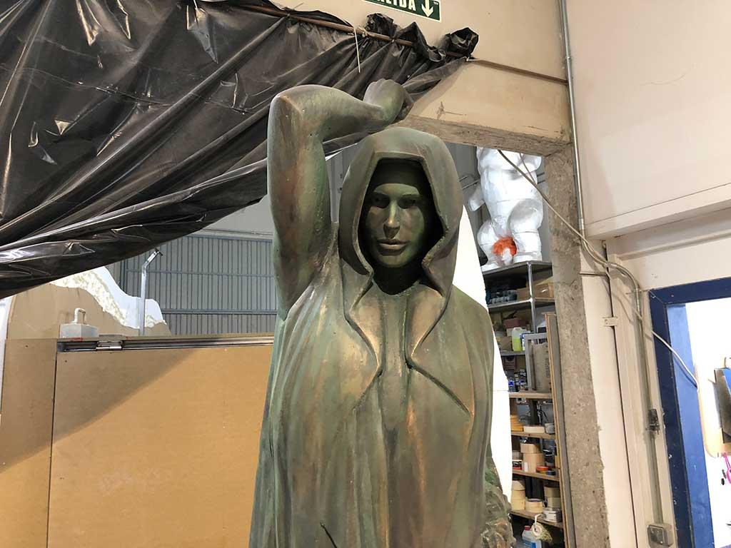 Escultura ángeles en la Casa de Papel 3