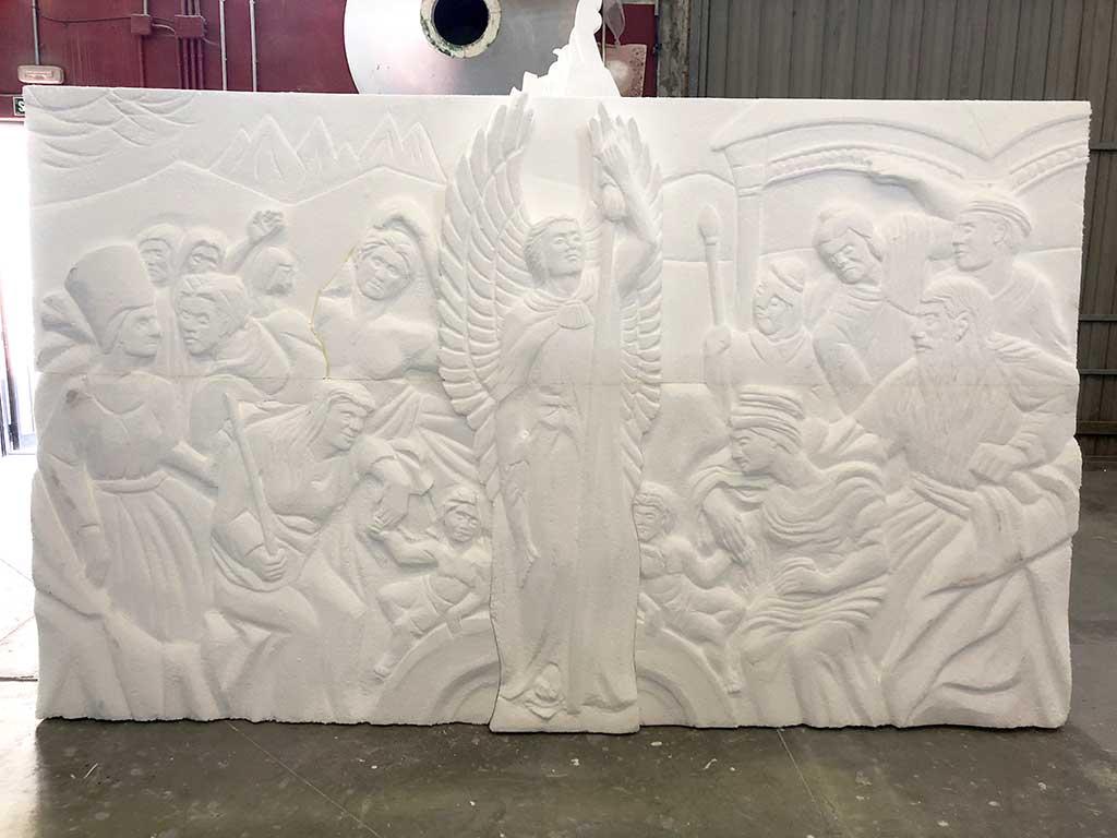 Escultura en la Casa de Papel 2