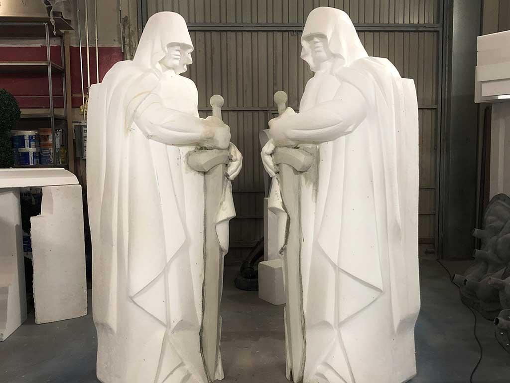 Escultura de la Casa de Papel porexpan