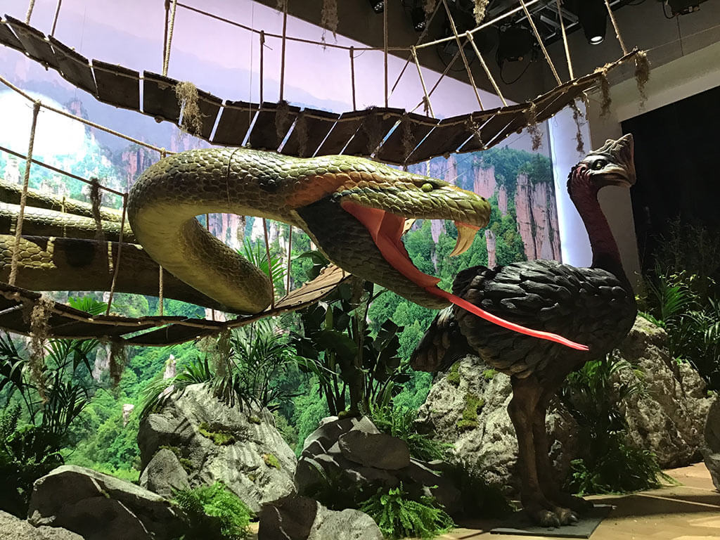 Construcción de decorados para Master Chef  anaconda de Jumanji
