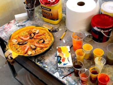 Pintura de alimentos ficticios