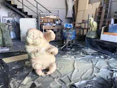 Escultura fantasma con endurecedor