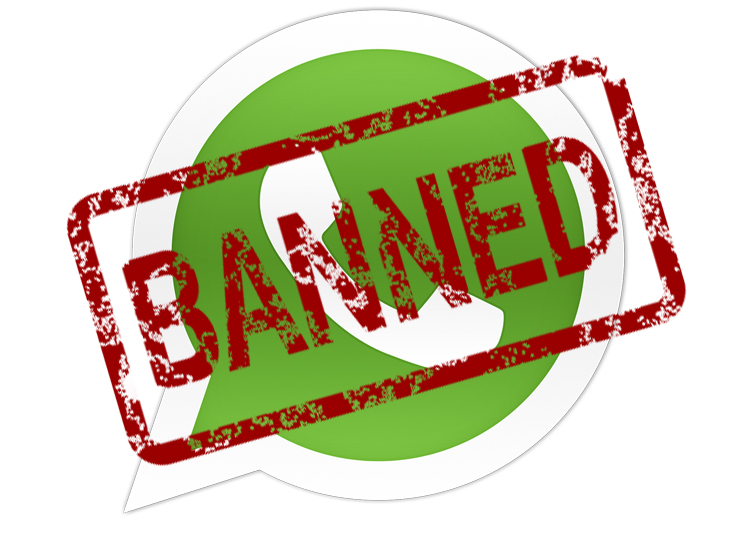 whatsapp banned