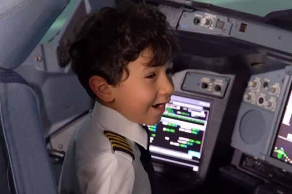 Six Years Old Arabic Child Pilots in Saudi Arabia