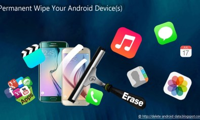 how to erase data from android