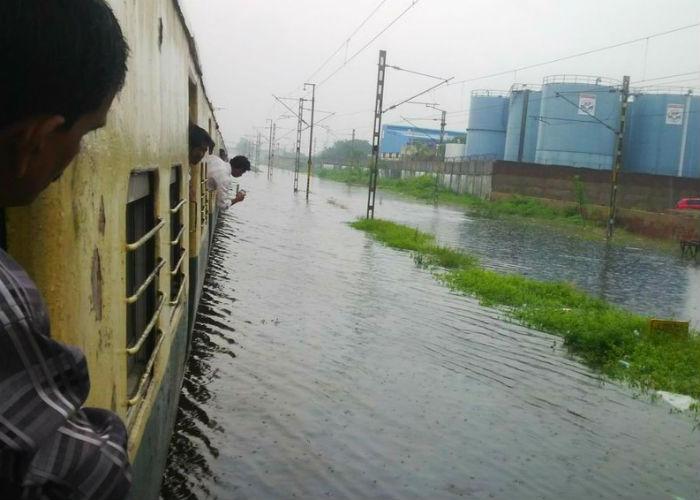 railway track flood chennai
