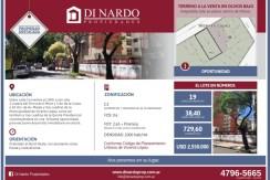 LOTE  Olivos centro  / Corrientes 1400