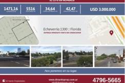 LOTE Florida / Echeverria 1300