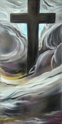 Croce 2012, oil on canvas, 40x80 cm