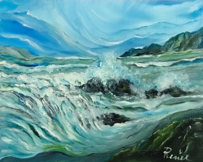Mare d'inverno 2010, oil on canvas, 40x50 cm
