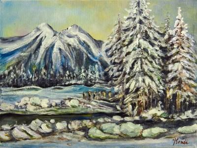 Paesaggio invernale 2009, oil on canvas, 30x40 cm