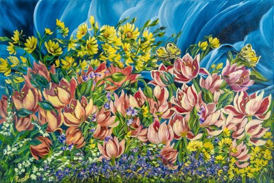 Tulipani 2010, oil on canvas, 60x90 cm