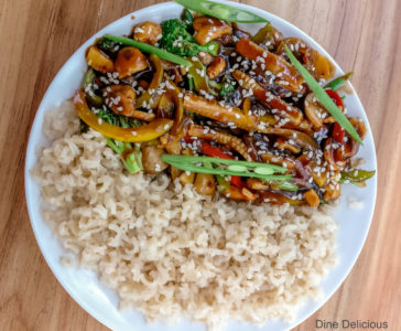 Sweet and Chilli Sauce with Brown Rice
