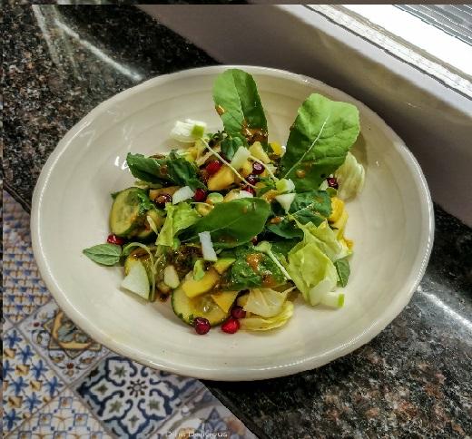 Sambal Basil Honey Fruit Salad