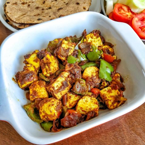 Quick and Easy Version of Kadai Paneer, Weekday Lunch Kadai Paneer Recipe