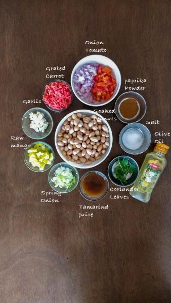 Peanut Chaat Ingredients
