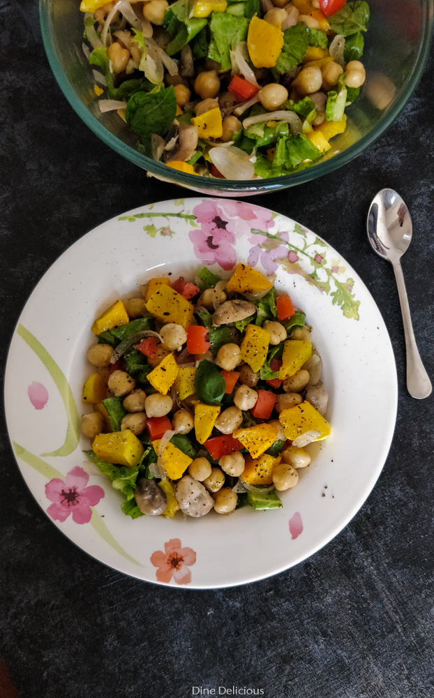Roasted Pumpkin Chickpea Salad Recipe